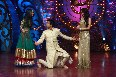 Comedian Sunil Grover showing dance steps to Jennifer Winget Malaika Arora Khan on shooting sets of dance reality show Nachle Ve  1