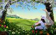 beautiful nature and cartoon hd wallpaper