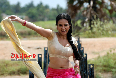 Sana khan sexy in blouse without bra 6