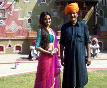 Asin on the sets of Bol Bachchan in Jaipur
