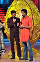 Abhishek Bachchan with Manish Paul on the sets of JHALAK DIKHHLA JAA Season 5 for film BOL BACHCHAN promotions photo