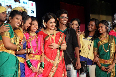 Vidya Balan posing with lavani dancers at the launch of lavani song Mala Jau De from FERRARI KI SAWAARI at Rangsharda Auditorium in Mumbai Photo