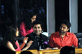 Abhishek Bachchan Karan Johar Madhuri Dixit Nene on the sets of JHALAK DIKHHLA JAA Season 5 for film BOL BACHCHAN promotions  photo