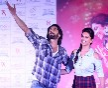 Deepika Padukone with Ranveer Singh at film RAM LEELA promotions Photo