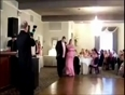 wedding groom falls down video