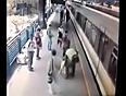 man saved from oncoming train video videos