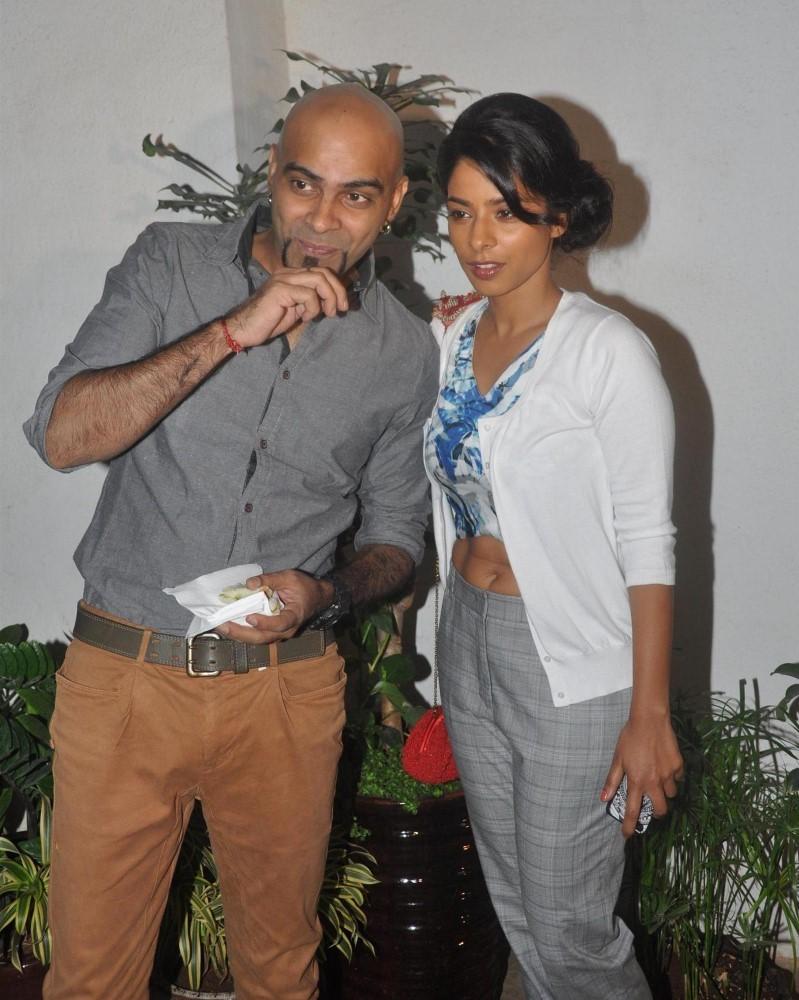 Sugandha Ram With Husband Raghu At The Special Screening