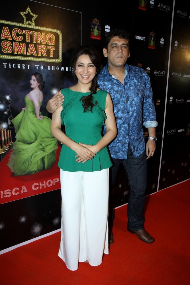 Tisca Chopra with cool, Husband Capt. Sanjay Chopra