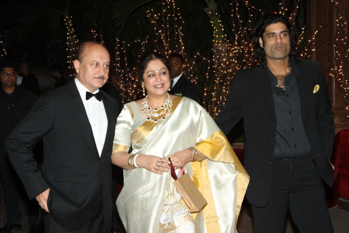 anupam kher with wife kirron kher son sikandar kher at the