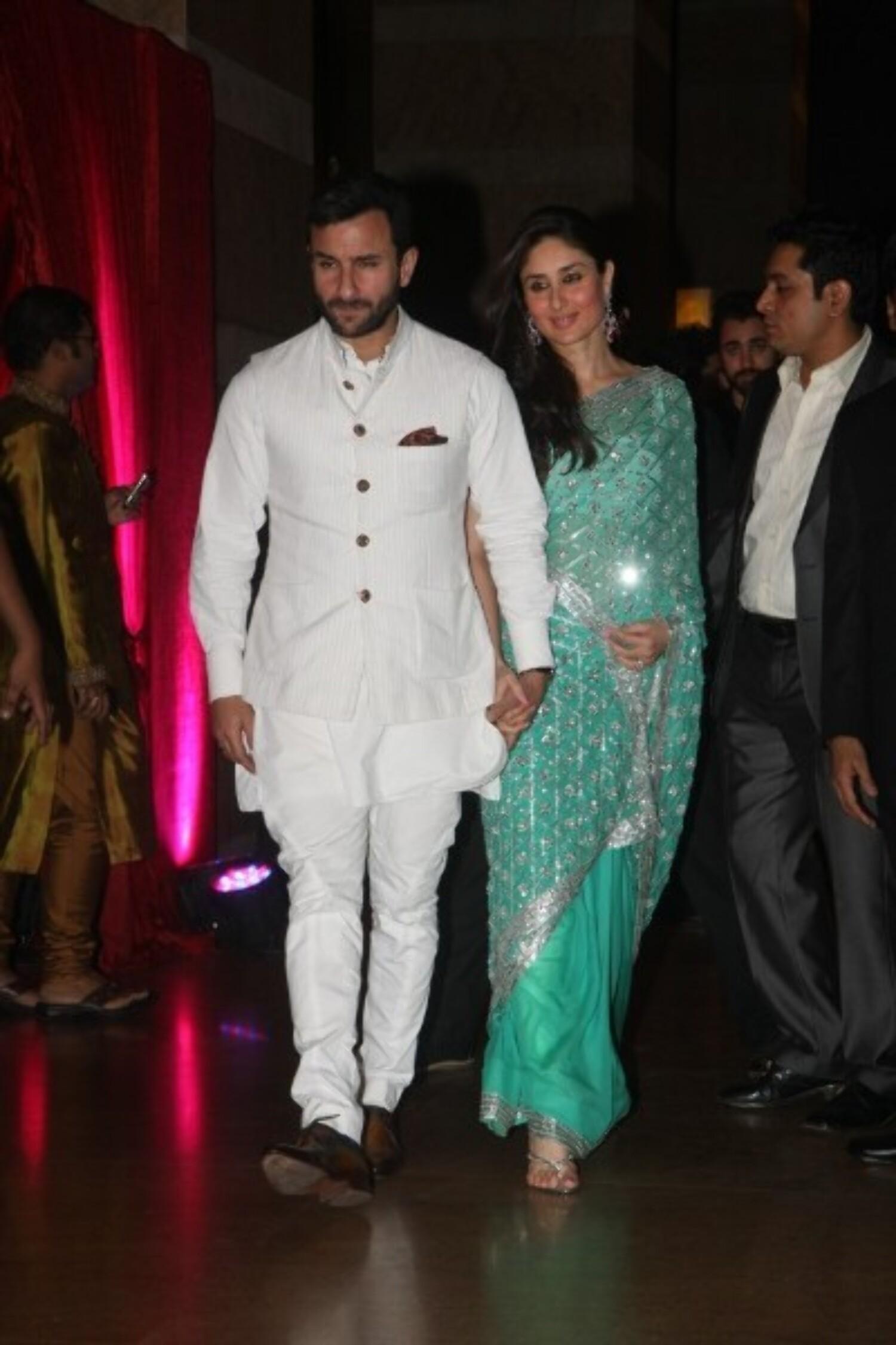 Saif Ali Khan Kareena Kapoor at Ritesh Deshmukh Genelia ...