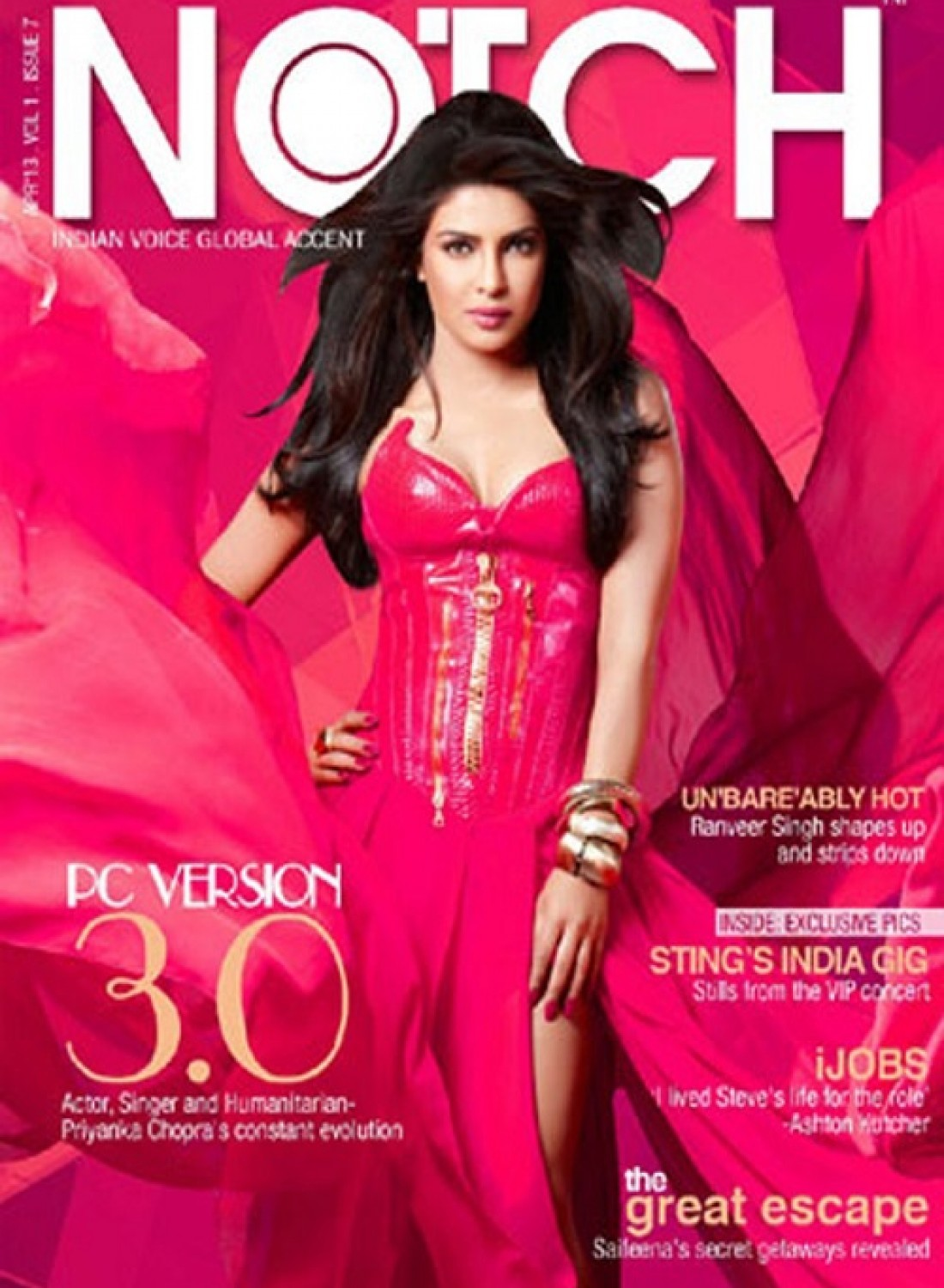 Priyanka Chopra April 2013 Notch Magazine Cover Page Photo Hot Images On Rediff Pages