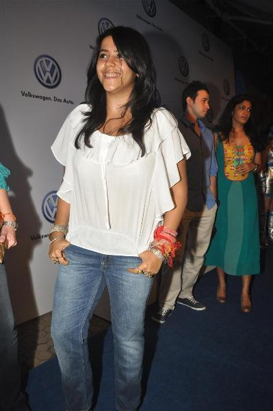 bollywood celebs at planet volkswagen launch at blue frog-photo13