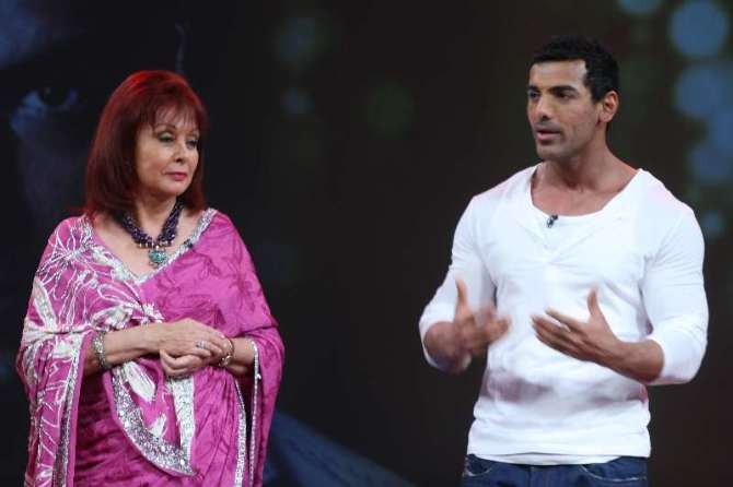 John Abraham with Gladrags Magazine head Maureen Wadia ...