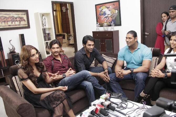 Bipasha Basu with Behzaad Khan Shaleen Malhotra Kiran ... Shaleen Malhotra And Sheetal Shah