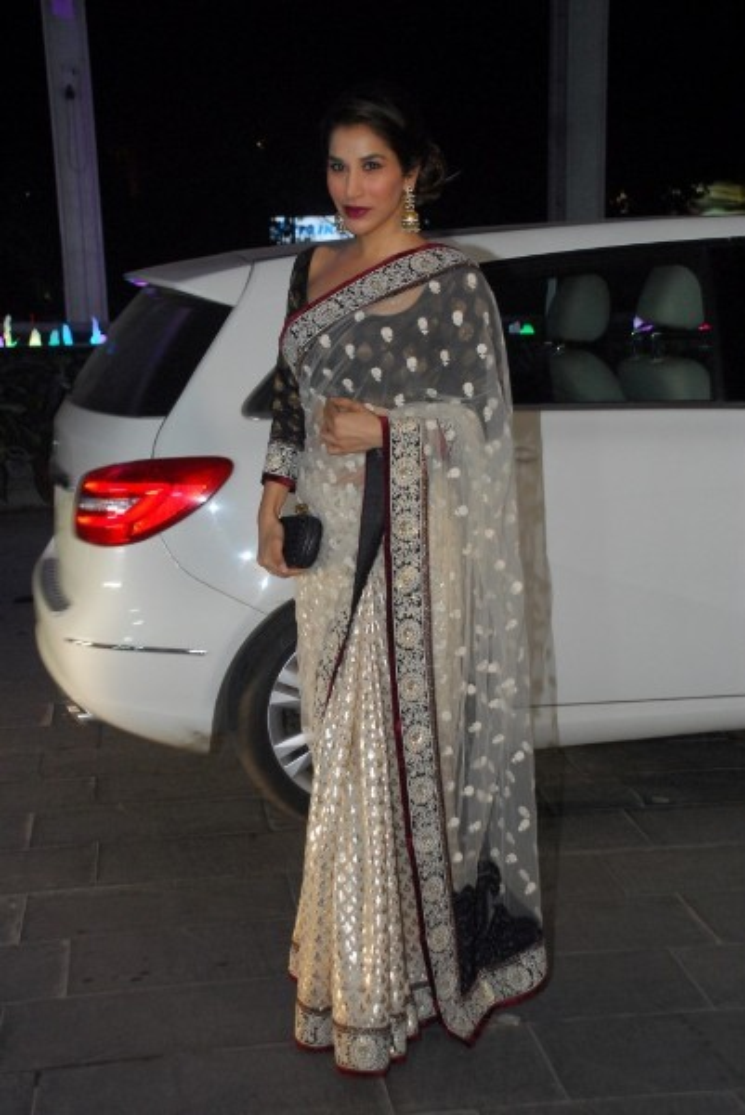 Sophie Choudry at Uday Singh and Shirin Morani wedding reception