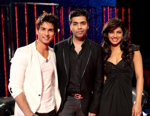 priyanka chopra and shahid kapoor on koffee with karan show