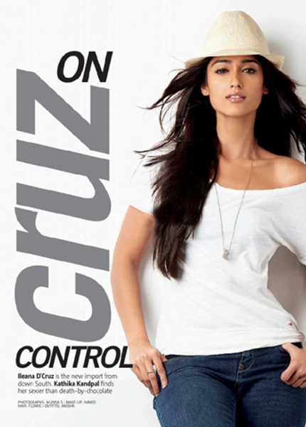 Ileana Dcruz Flimfare August Magazine 2012 Cover Page Photo