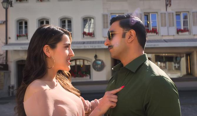 SIMMBA Movie Song Tere Bin starring Ranveer Singh   Sara Ali Khan  9