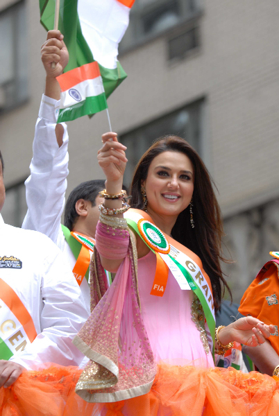 Preity Zinta NYC India Day Parade 02