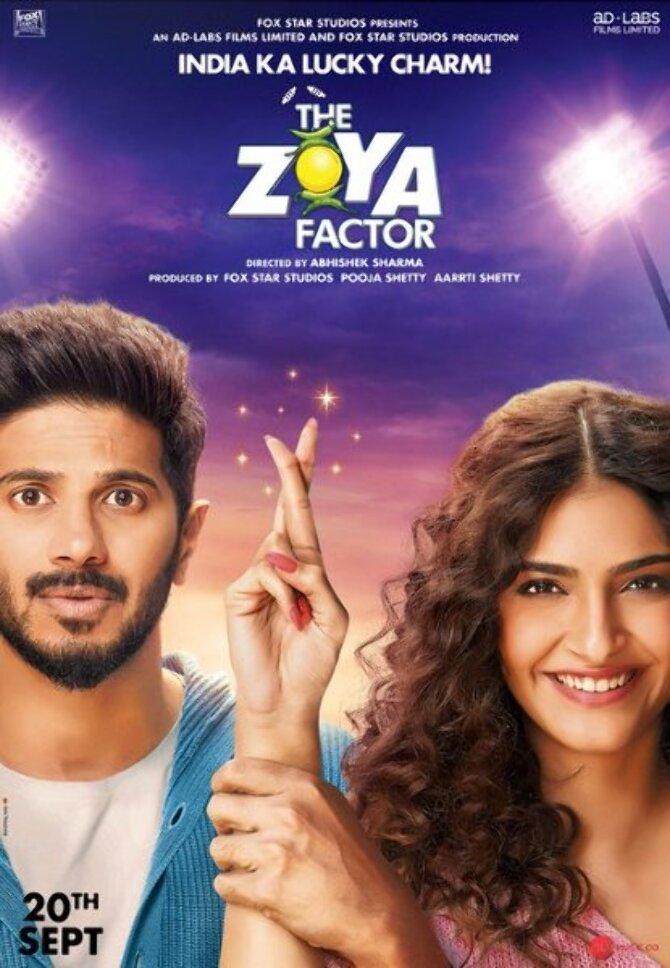 Sonam Kapoor Ahuja and Dulquer Salmaan New Poster of Movie  TheZoyaFactor