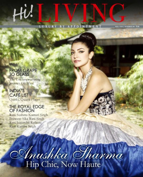 Anushka Sharma Hi Living Magazine Cover Pic