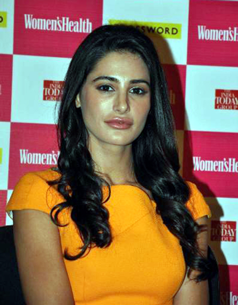 Nargis Fakhri at the launch of the latest issue of WOMENS HEALTH magazine at the Crossword Store in Mumbai Photo