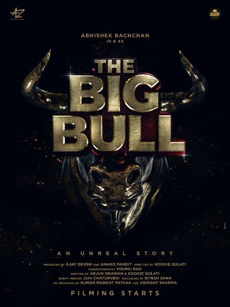 Abhishek Bachchan in and as The Big Bull   An Unreal Story