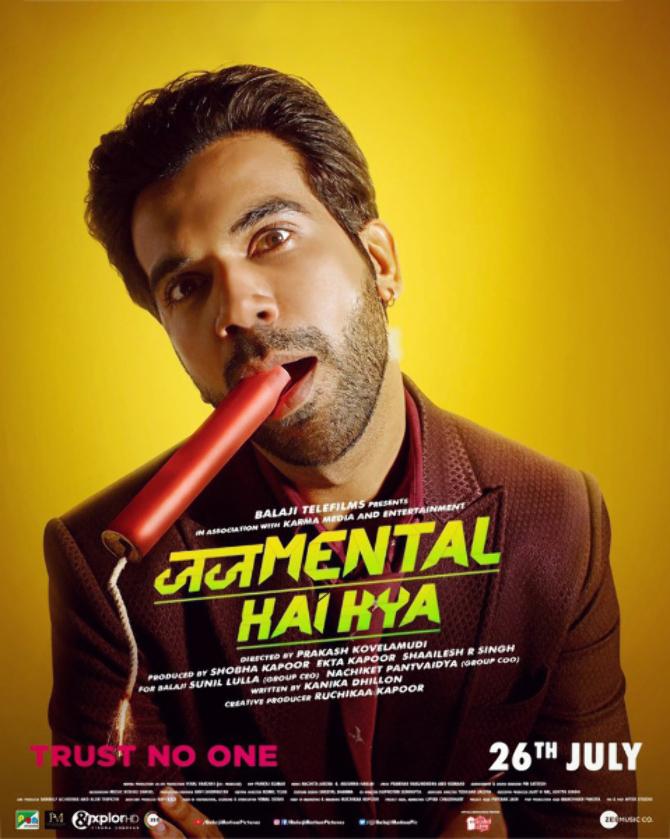 Rajkummar Rao starrer Judgementall Hai Kya Hindi Movie Poster