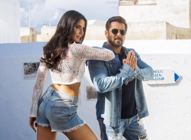 Salman Khan and Katrina Kaif Tiger Zinda Hai Swag Se Swagat Song Stills