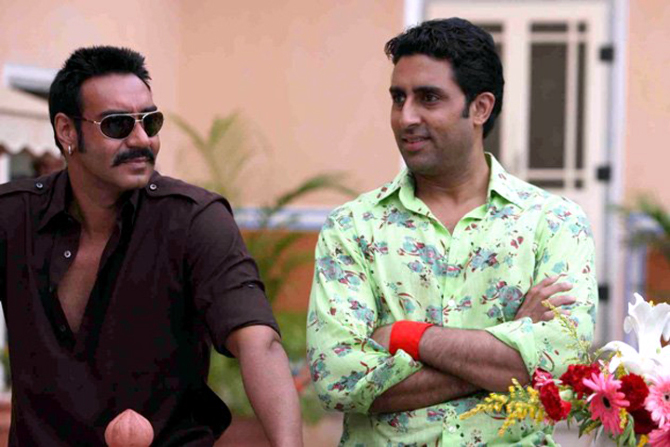 Ajay Devgn Abhishek Bachchan Movie Bol Bachchan Photo