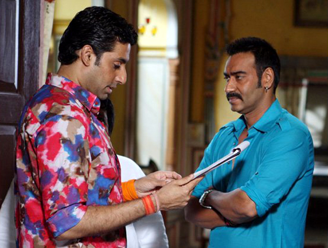 Abhishek Bachchan and Ajay Devgn Bol Bachchan Movie Photo