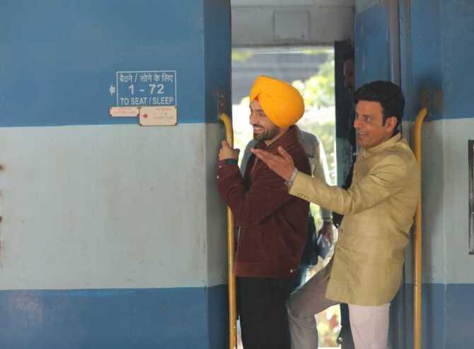 First glimpse of movie Suraj Pe Mangal Bhari stars Diljit Dosanjh  Manoj Bajpayee and Fatima Sana Shaikh