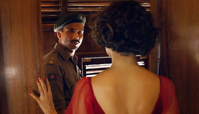 Shahid Kapoor and Kangna Ranaut in Rangoon