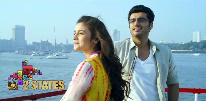 Alia Bhatt Arjun Kapoor 2 States Movie Song Pic