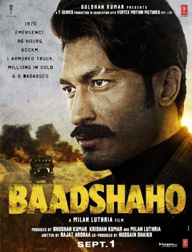 Vidyut Jammwal Baadshaho Movie Poster