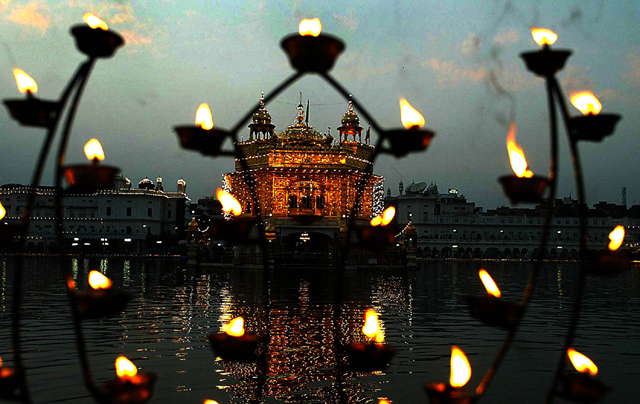 Golden Temple Diwali Decoration