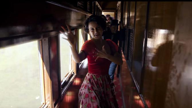 Kangana Ranaut  Shahid Kapoor Rangoon   Movie Tippa Song Stills  3