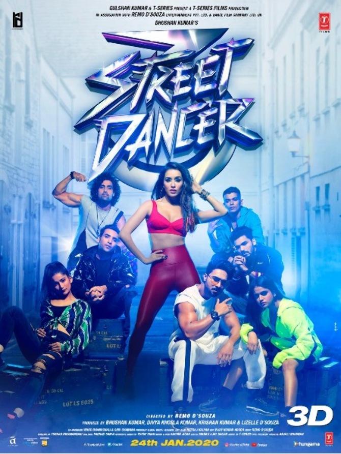 Shraddha Kapoor Street Dancer 3D Movie Poster