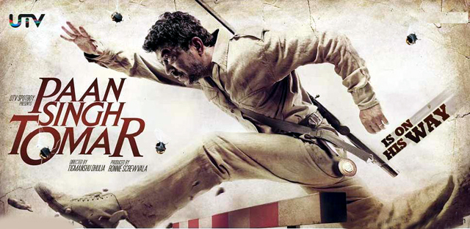 Irfan Khan Paan Singh Tomar Poster