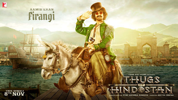 Aamir Khan as FIRANGI in Thugs Of Hindostan Hindi Movie First Look