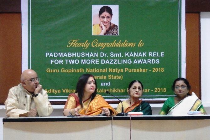 Dr. Mrs. Kanak Rele  Celebrated Dance Exponent Received Lifetime