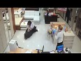 Thief Stealing Laptop Caught
