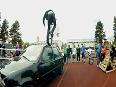 Adventurous Unicycle High Jump